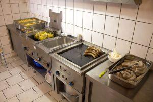 In der Küche ist alles vorbereitet