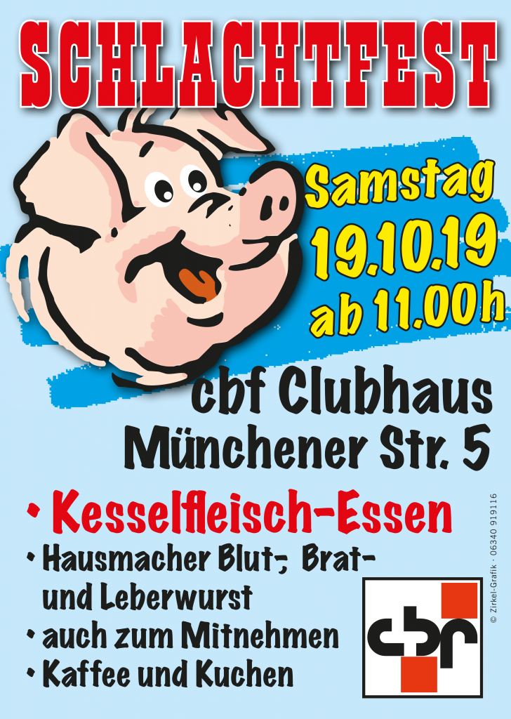 Flyer cbf Schlachtfest 2019
