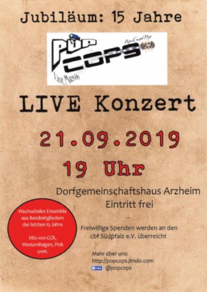 Flyer des Konzerts