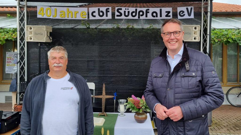 Geschäftsführer Christian Dawo und MDL Alexander Schweitzer